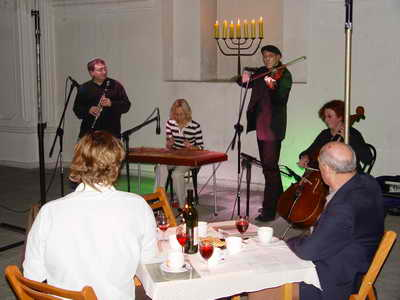 Performing with Michael Alpert. Sejny, Poland, September, 2004. Photo 1